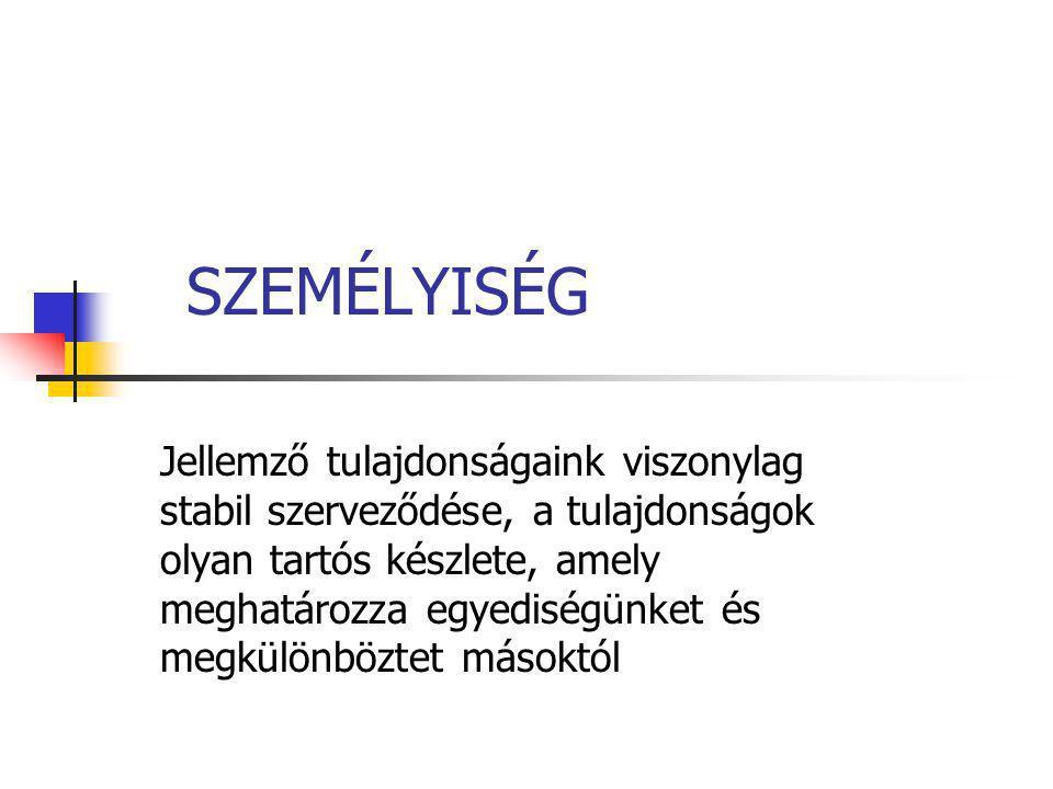 SZEMÉLYISÉG