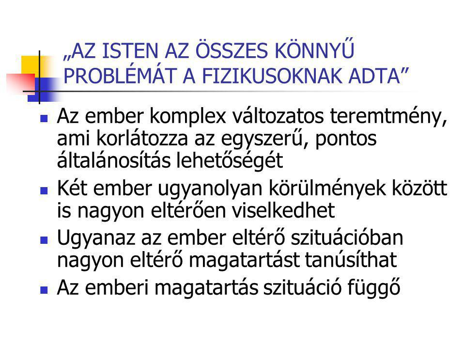 """""""AZ ISTEN AZ ÖSSZES KÖNNYŰ PROBLÉMÁT A FIZIKUSOKNAK ADTA"""