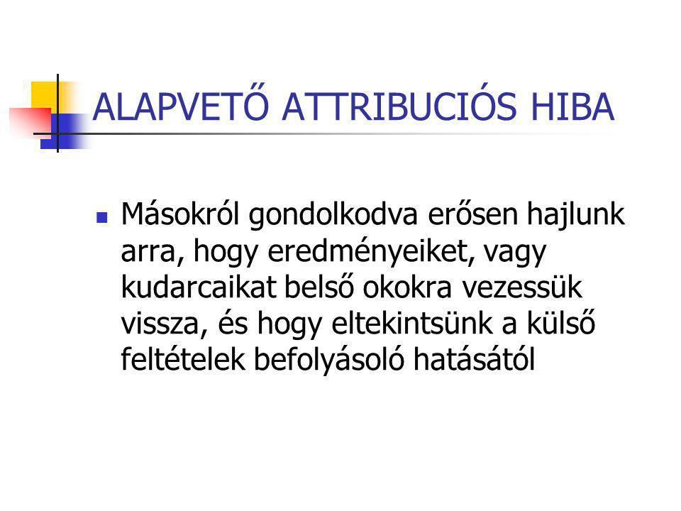 ALAPVETŐ ATTRIBUCIÓS HIBA