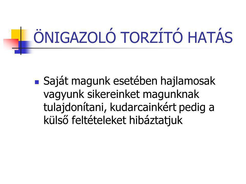 ÖNIGAZOLÓ TORZÍTÓ HATÁS
