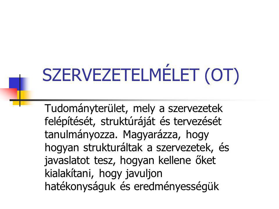 SZERVEZETELMÉLET (OT)