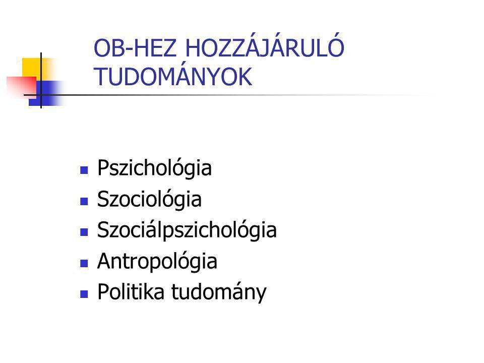 OB-HEZ HOZZÁJÁRULÓ TUDOMÁNYOK