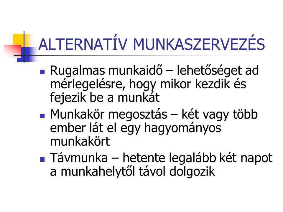 ALTERNATÍV MUNKASZERVEZÉS