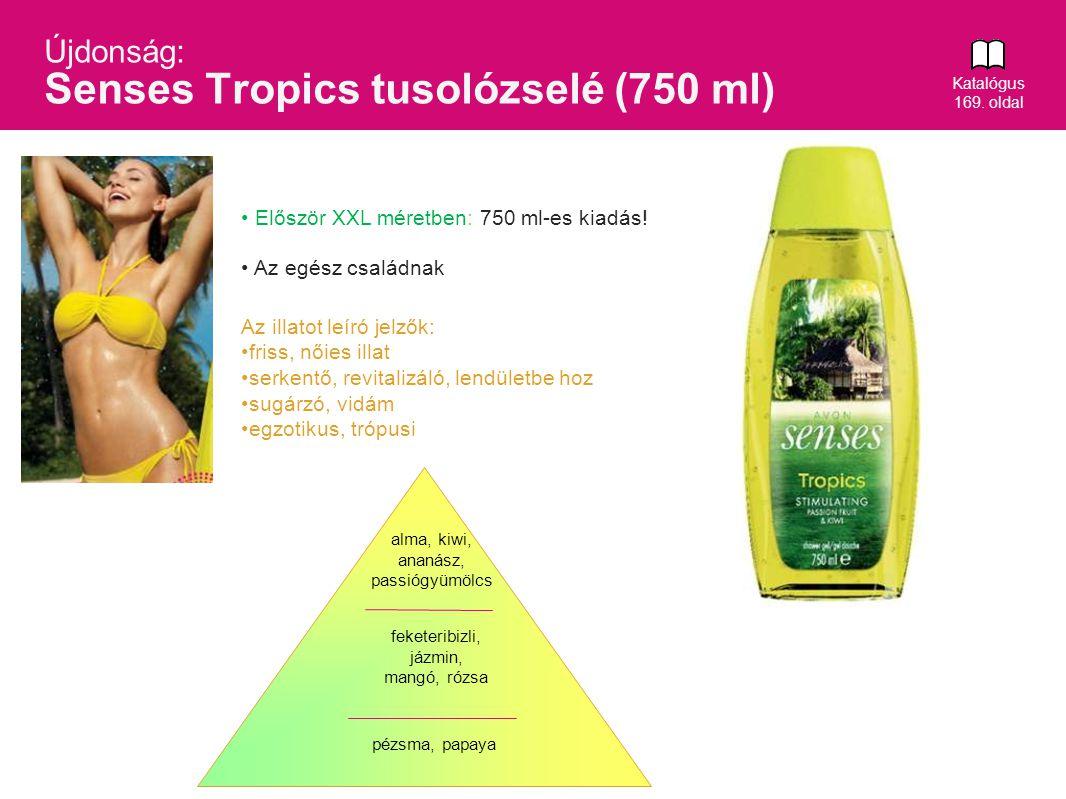 Újdonság: Senses Tropics tusolózselé (750 ml)
