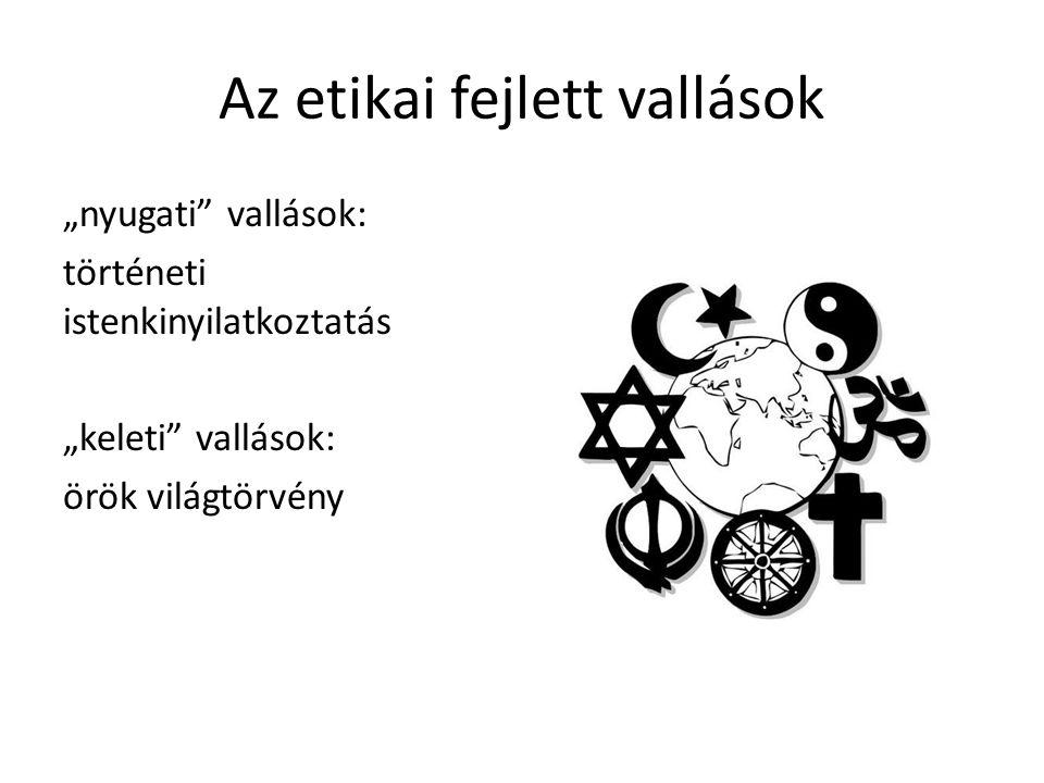 Az etikai fejlett vallások