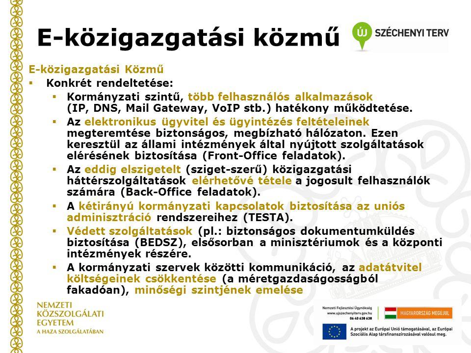 E-közigazgatási közmű
