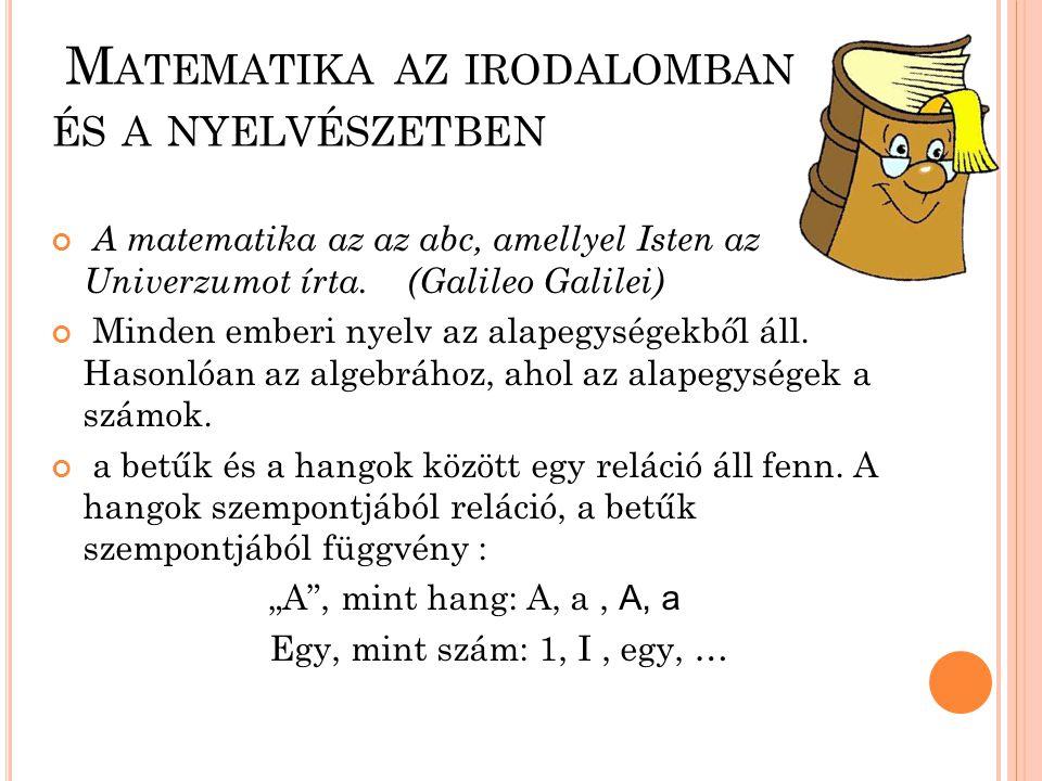 Matematika az irodalomban és a nyelvészetben