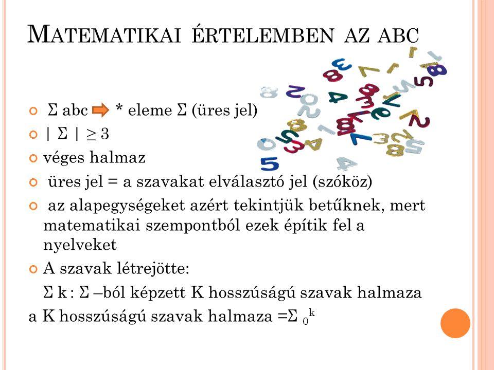 Matematikai értelemben az abc