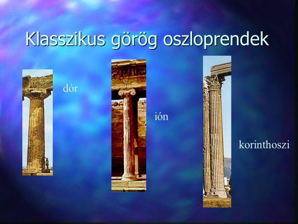 Klasszikus görög oszloprendek