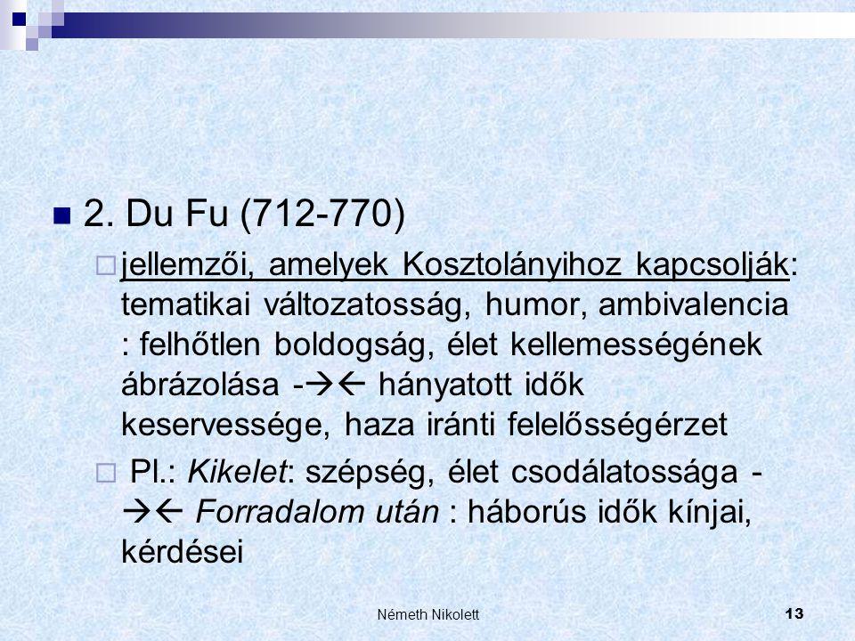 2. Du Fu (712-770)