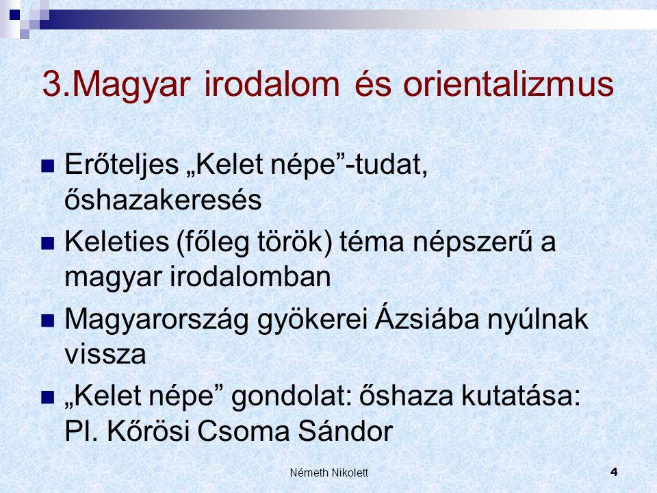 3.Magyar irodalom és orientalizmus
