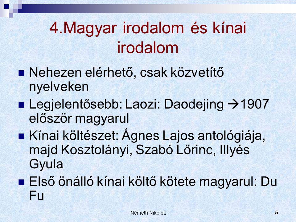 4.Magyar irodalom és kínai irodalom