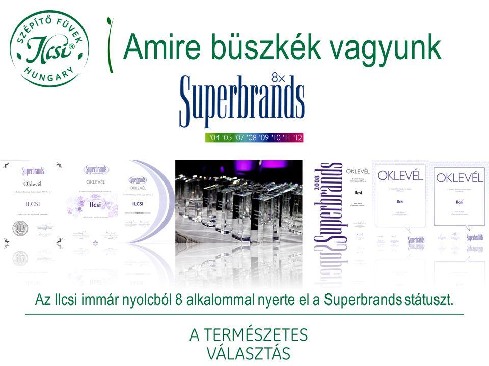 Az Ilcsi immár nyolcból 8 alkalommal nyerte el a Superbrands státuszt.