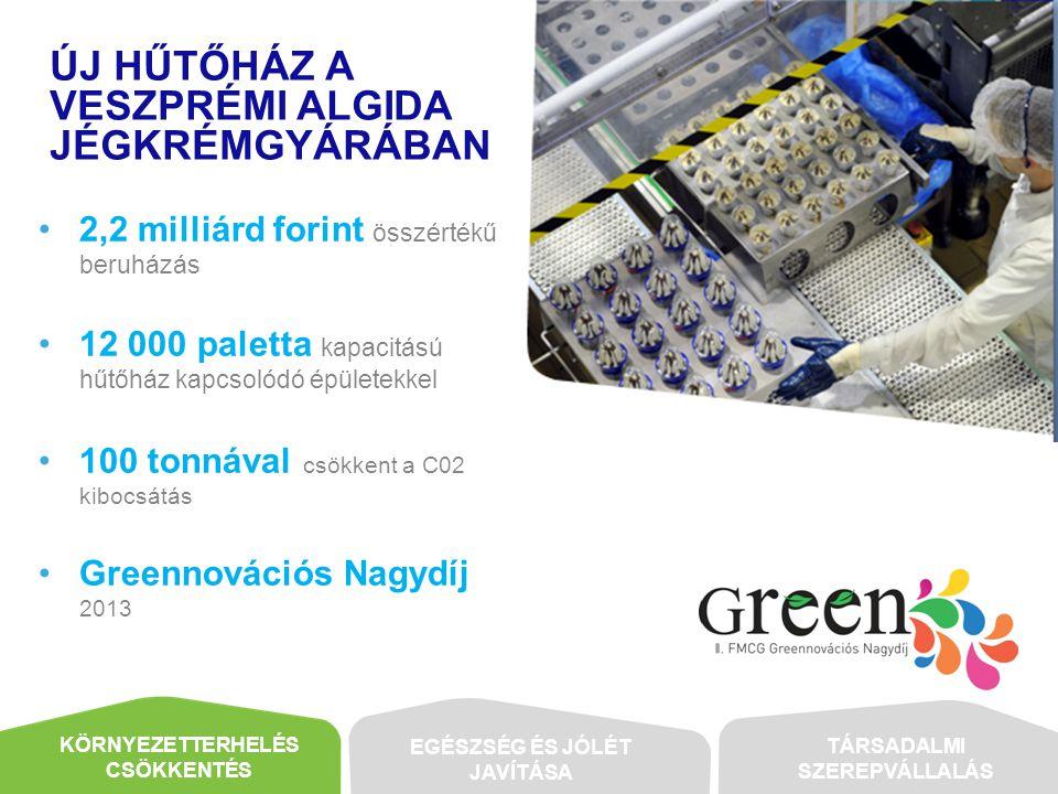 Új hűtőház A Veszprémi Algida Jégkrémgyárában