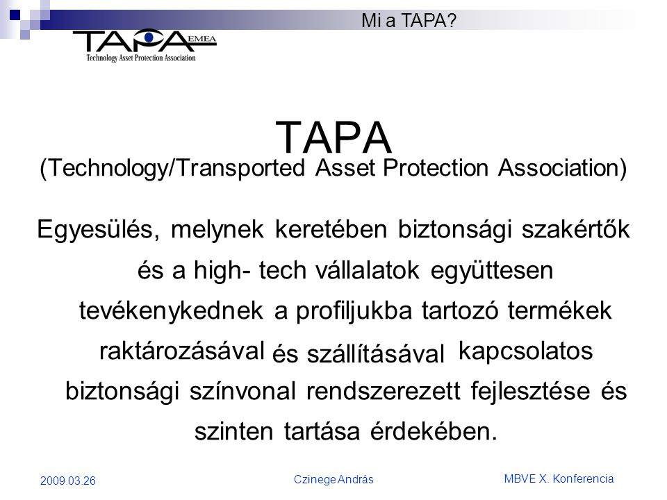 (Technology/Transported Asset Protection Association)