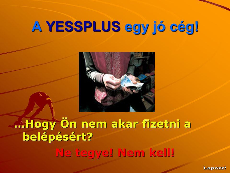 A YESSPLUS egy jó cég! Lapozz! …Hogy Ön nem akar fizetni a belépésért