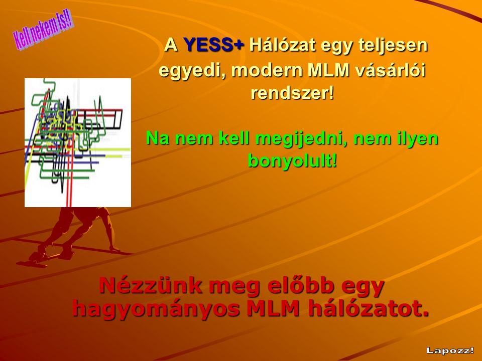 Nézzünk meg előbb egy hagyományos MLM hálózatot.