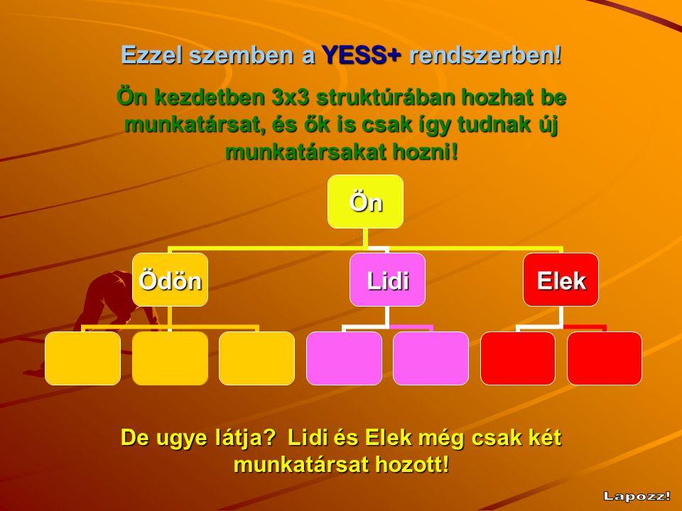 Lapozz! Ezzel szemben a YESS+ rendszerben!