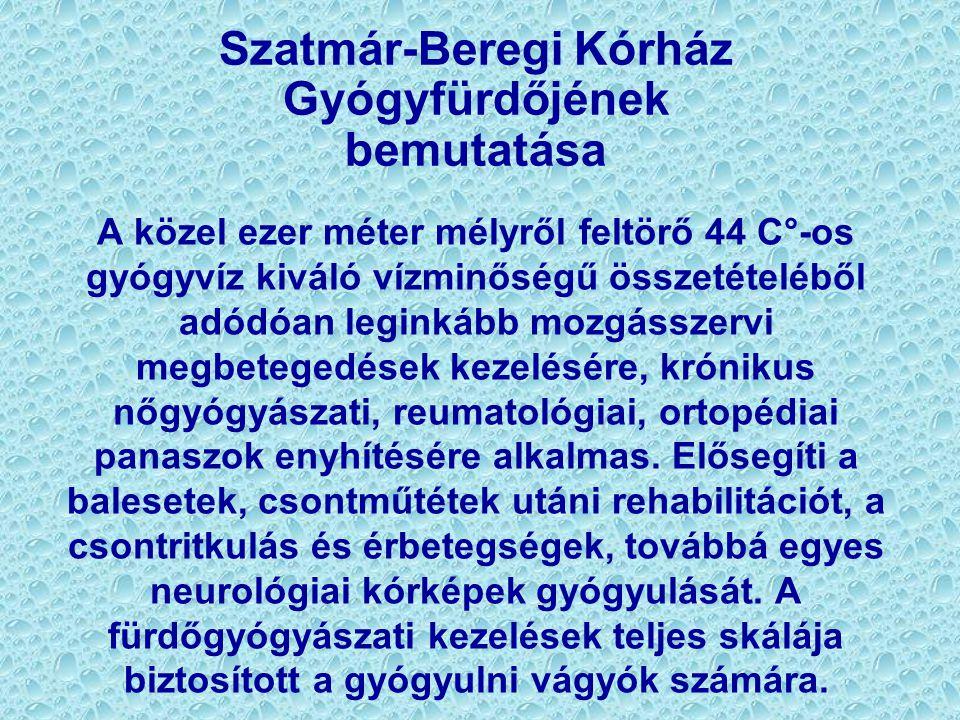 Szatmár-Beregi Kórház Gyógyfürdőjének bemutatása