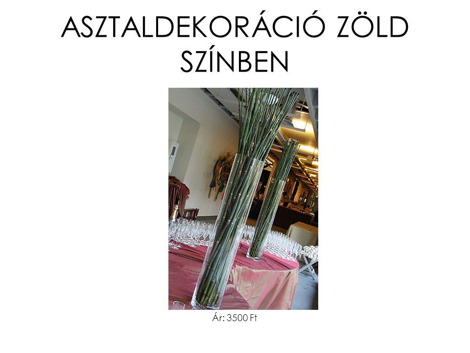 ASZTALDEKORÁCIÓ ZÖLD SZÍNBEN