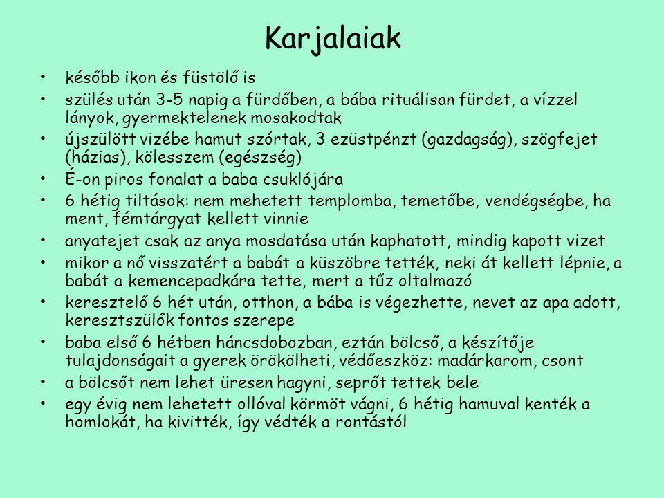 Karjalaiak később ikon és füstölő is