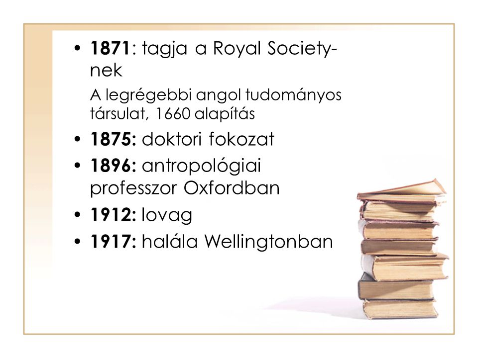 1871: tagja a Royal Society-nek