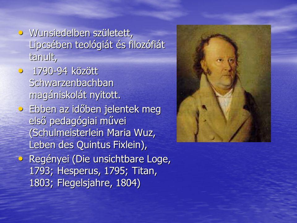 Wunsiedelben született, Lipcsében teológiát és filozófiát tanult,