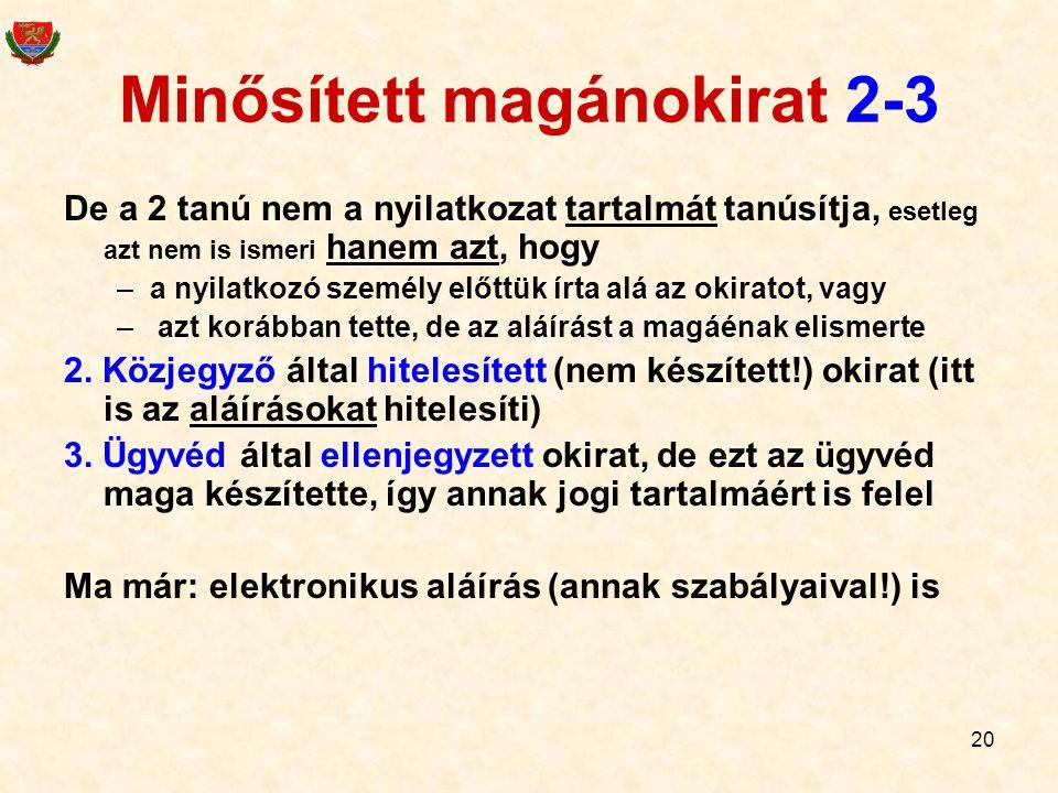 Minősített magánokirat 2-3