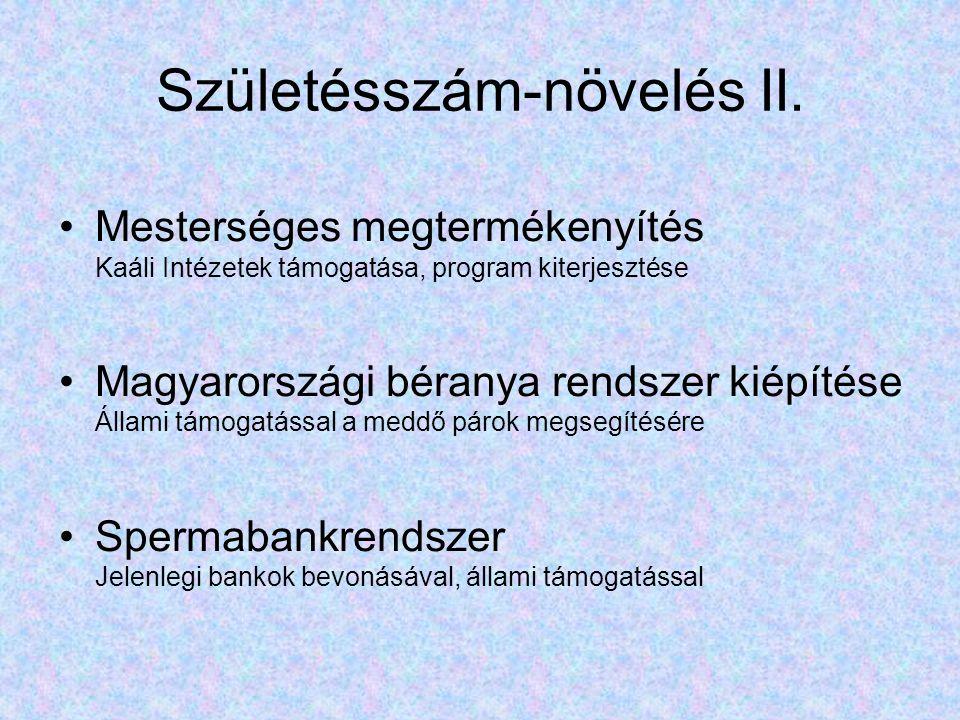 Születésszám-növelés II.