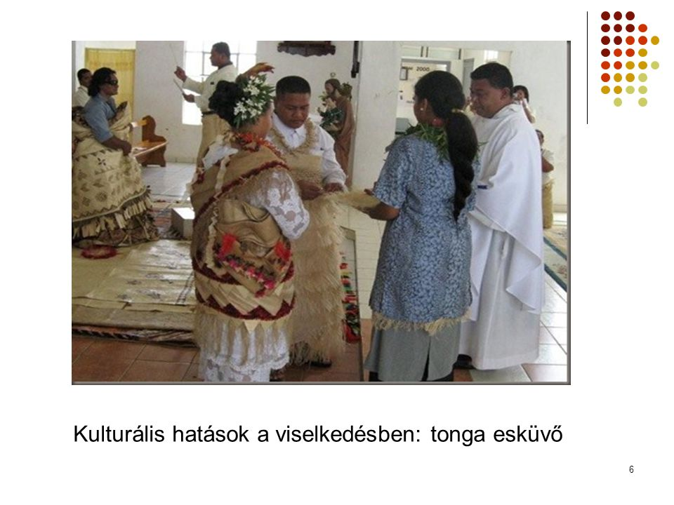 Kulturális hatások a viselkedésben: tonga esküvő