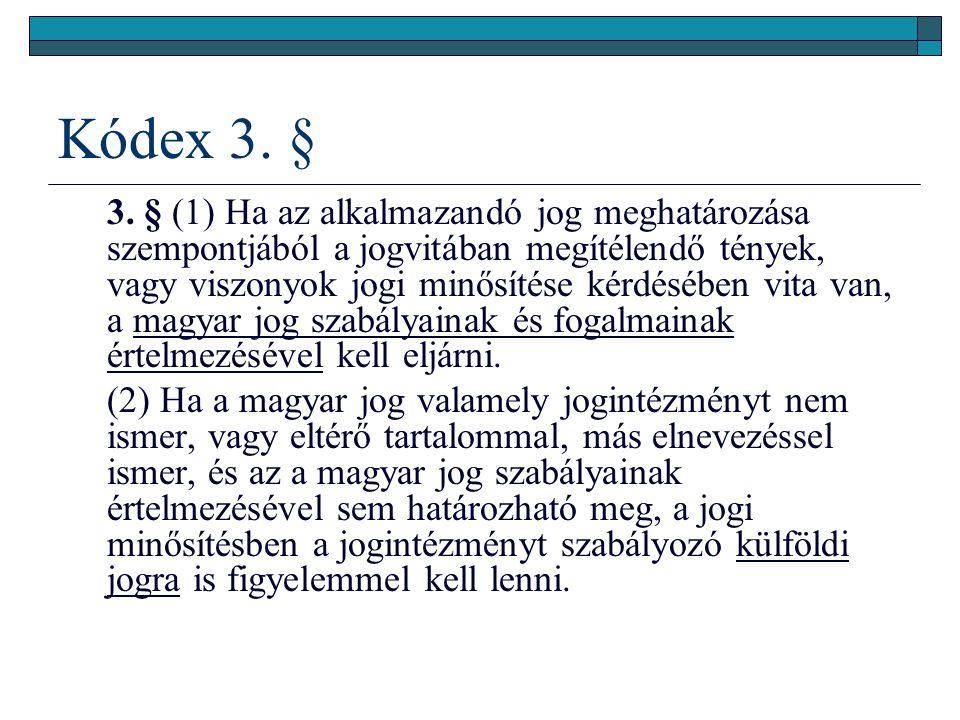Kódex 3. §