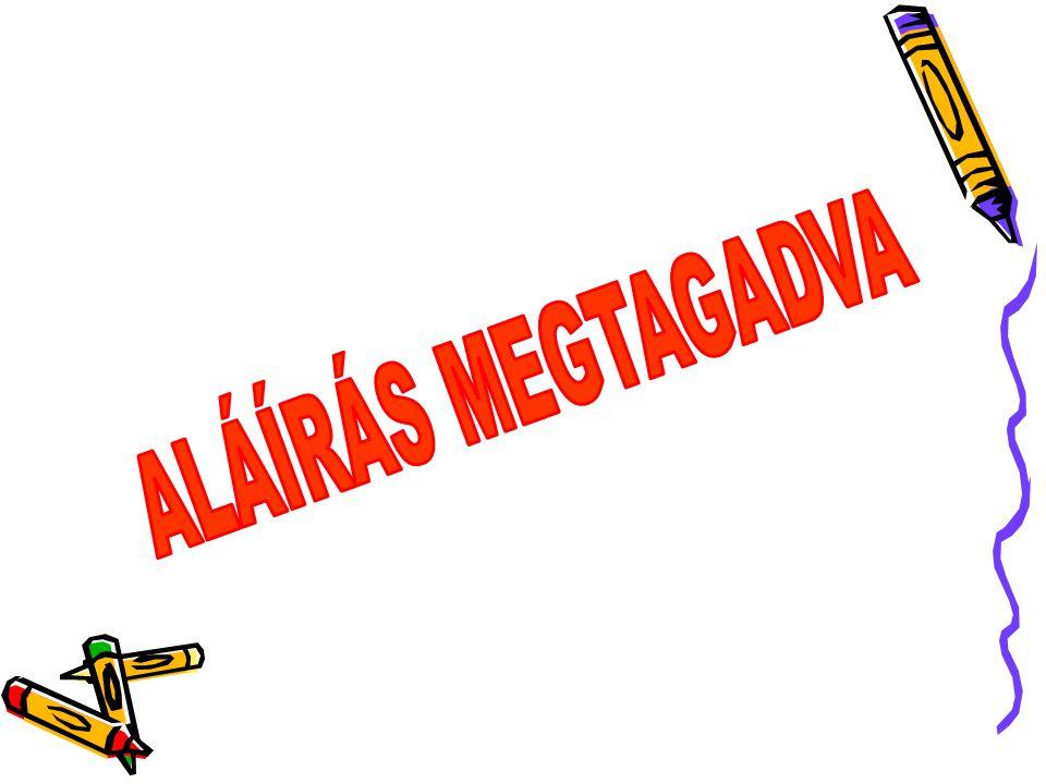ALÁÍRÁS MEGTAGADVA
