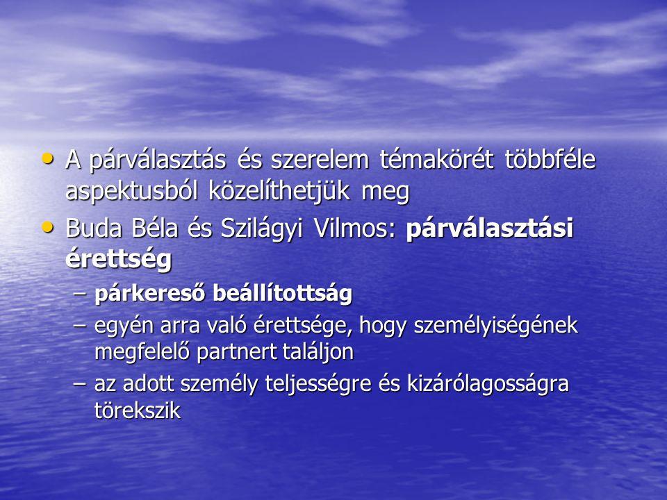 Buda Béla és Szilágyi Vilmos: párválasztási érettség