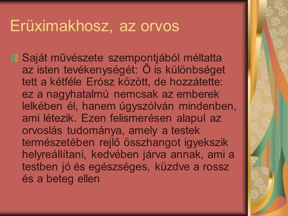 Erüximakhosz, az orvos
