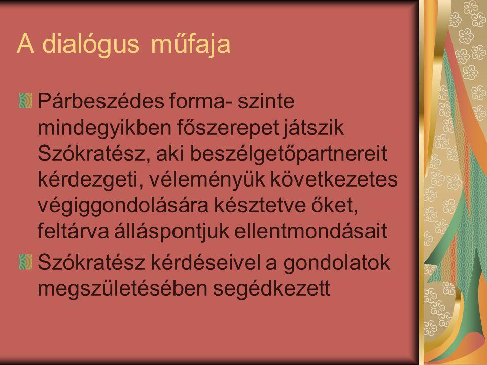 A dialógus műfaja