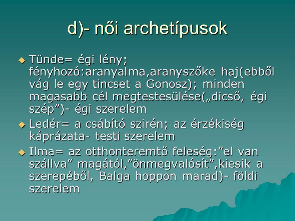 d)- női archetípusok