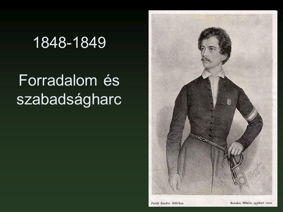 1848-1849 Forradalom és szabadságharc