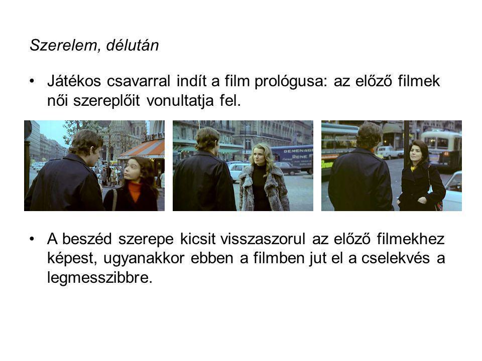 Szerelem, délután Játékos csavarral indít a film prológusa: az előző filmek női szereplőit vonultatja fel.