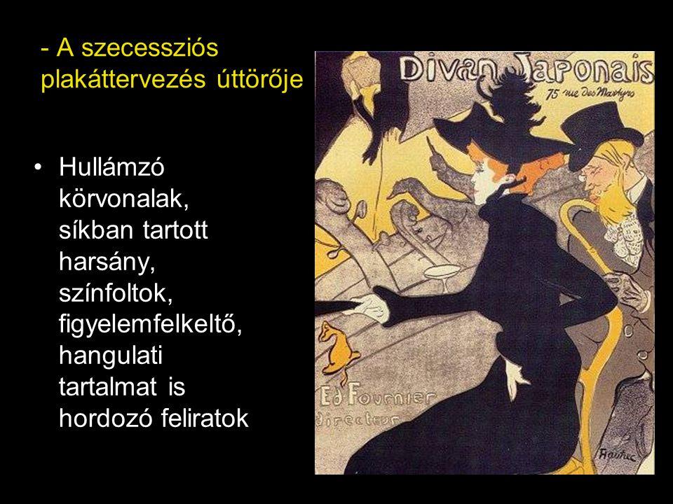 - A szecessziós plakáttervezés úttörője