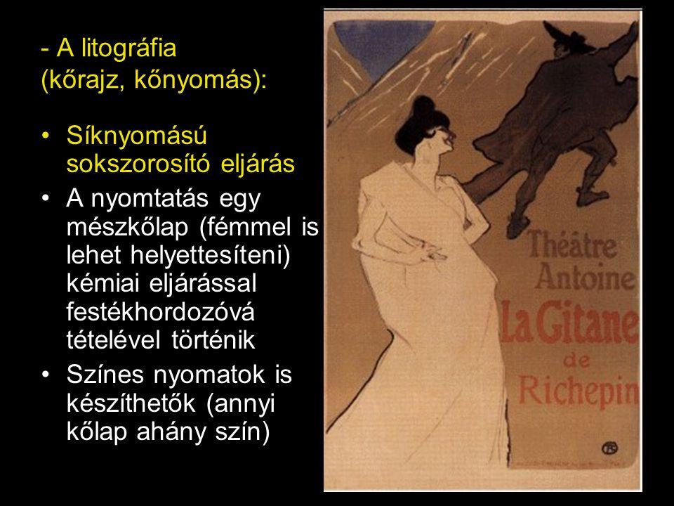 - A litográfia (kőrajz, kőnyomás):