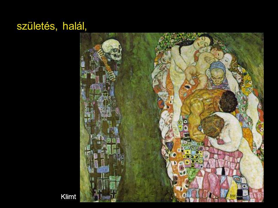 születés, halál, Klimt