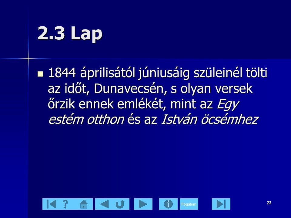 2.3 Lap