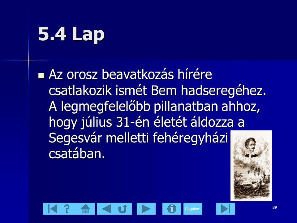 5.4 Lap