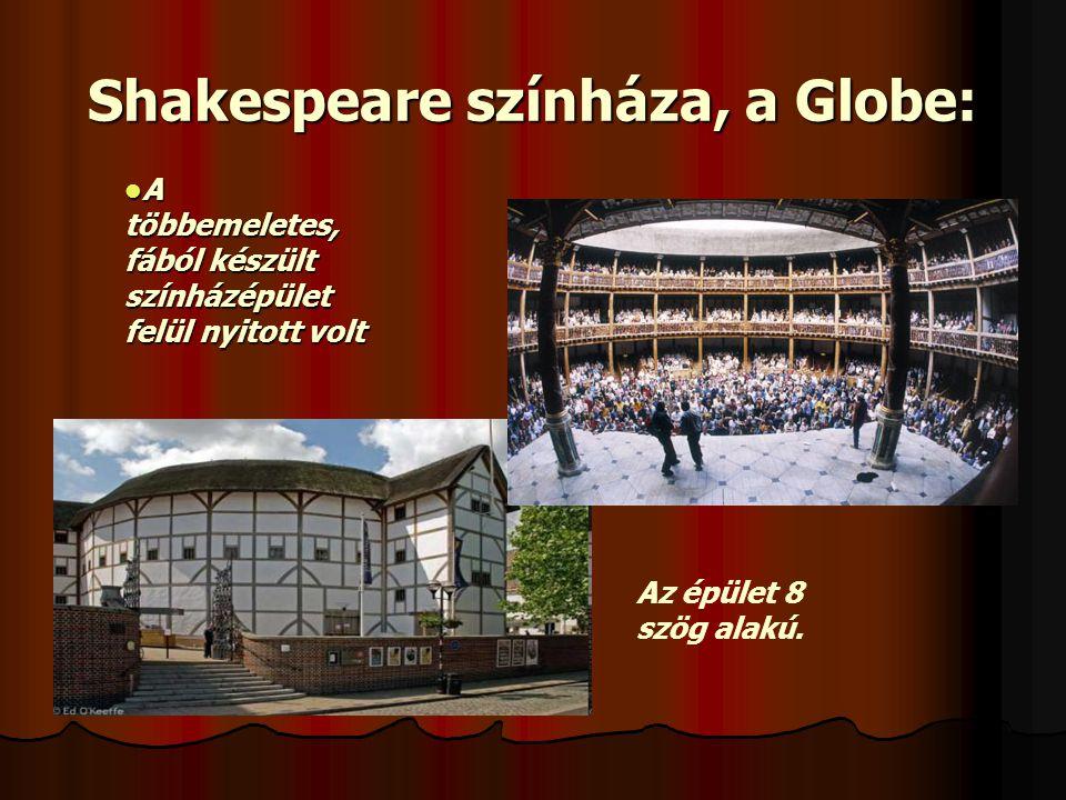 Shakespeare színháza, a Globe: