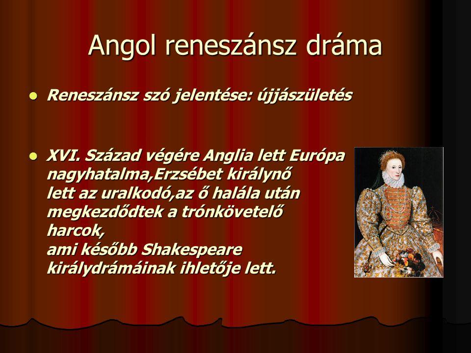 Angol reneszánsz dráma