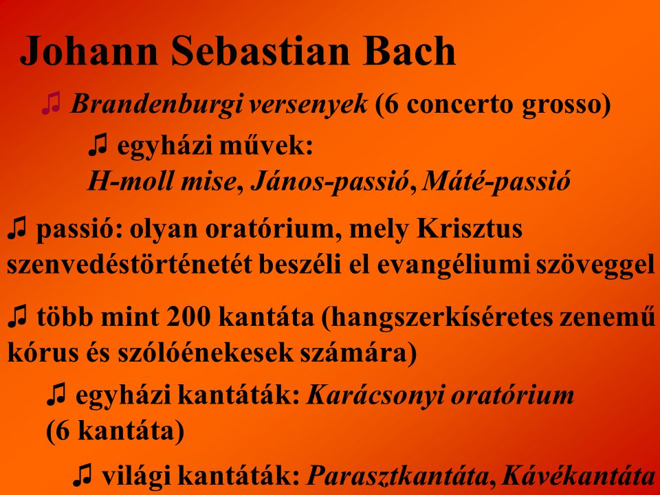 Johann Sebastian Bach ♫ Brandenburgi versenyek (6 concerto grosso)