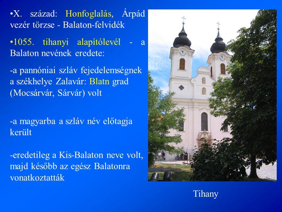 X. század: Honfoglalás, Árpád vezér törzse - Balaton-felvidék