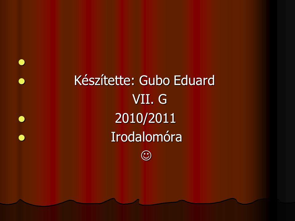 Készítette: Gubo Eduard
