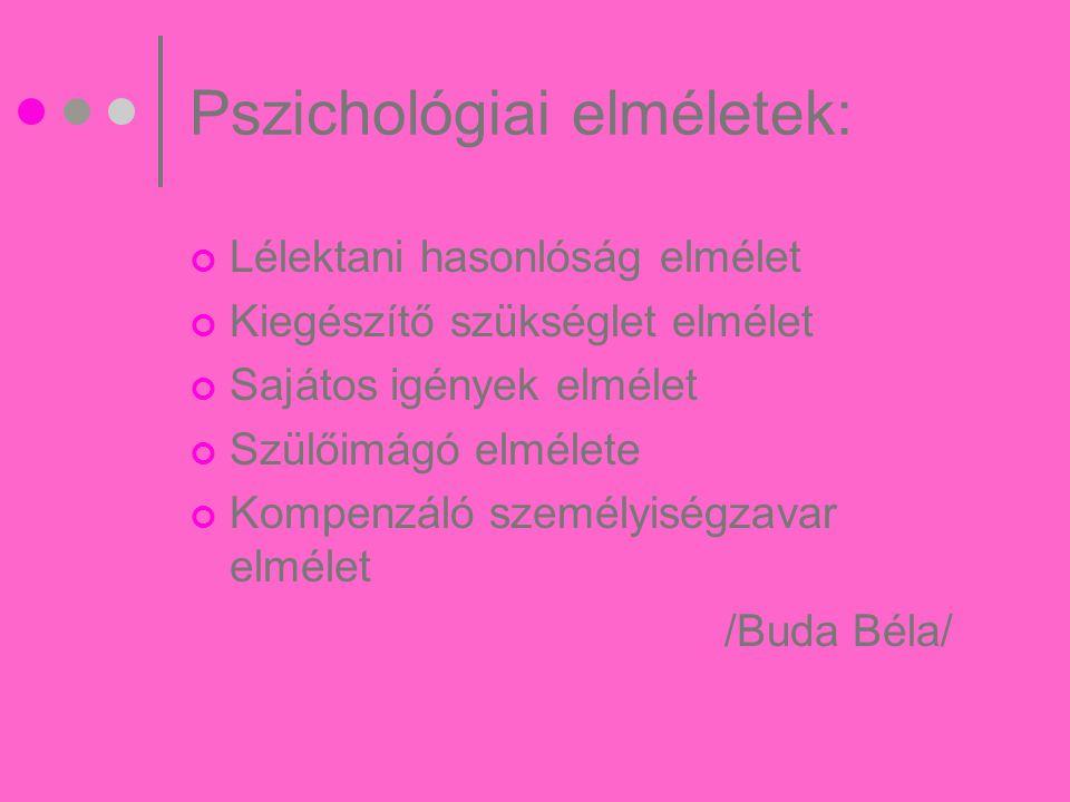 Pszichológiai elméletek: