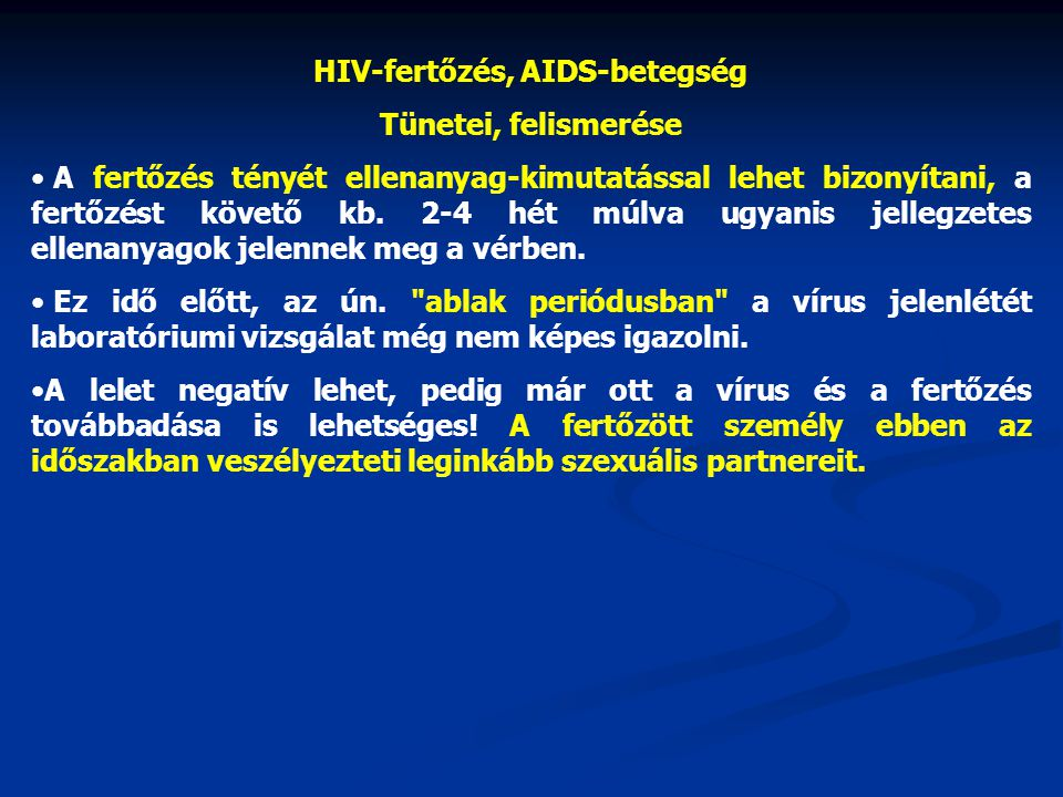 HIV-fertőzés, AIDS-betegség